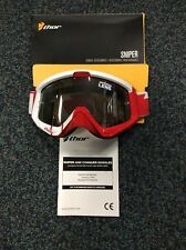 Thor Sniper Barred Goggles Red/White MX Motocross Enduro Off-Road MTB DH SKI