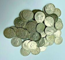 1922-1936 Lot Of 60 Mixed Dates Canadian Nickels 5 Cents King George V B154