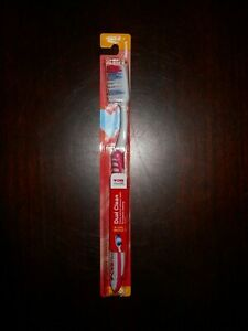 NEW ~ CVS Health Dual Clean Toothbrush - Soft Regular Brush  ~ Red color