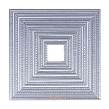 8x DIY Square Cutting Dies Stencils Embossing Cards Scrapbooking Album Crafts