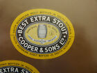 VINTAGE AUS BEER LABEL. COOPERS & SONS BEST EXTRA STOUT