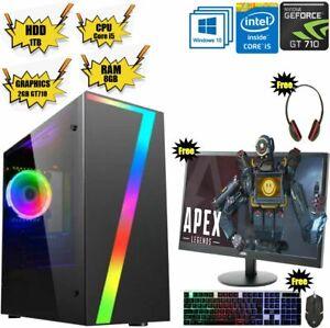 Super FAST Intel Core i5 Gaming PC Bundle 16GB RAM 1TB HDD Windows 10 2GB GT710✅