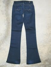 7 for all Mankind Jeans Womens Kaylie Low Slim Bell Bottom Flare w Stretch Sz 25