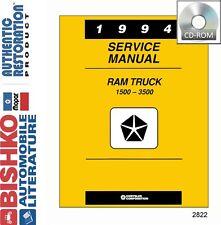 1994 Dodge Ram Truck Shop Service Repair Manual CD Engine Drivetrain Electrical