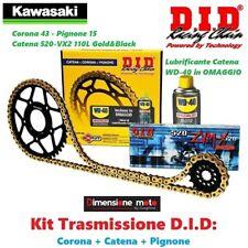 DID 100778-37093 Kit Trasmissione, Pignone, Catena e Corona per Kawasaki ZX6RR Ninja 600cc (2005 - 2006)
