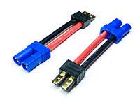 2 Adapterkabel Adapter EC5 Female Buchse > TRX Traxxas Stecker Goldstecker 12AWG
