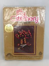 "VTG 1978 Jiffy Stitchery Craft Embroidery Kit ""SUNLIT FLOWERS"" NOS"