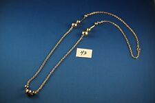 Gold tone Necklace 36 inches long  (43)