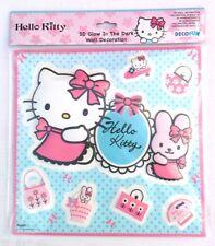 Decorazione muro 7 adesivi 3D Hello Kitty Brilla al buio 70460 bambini camerette
