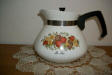VINTAGE CORNING WARE LE THE' SPICE OF LIFE 6 CUP TEA POT W/ PLASTIC LID