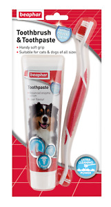 Toothbrush &Toothpaste(Liver Flavour) Kit BEAPHAR Dental Care Puppy Cat Dog100g