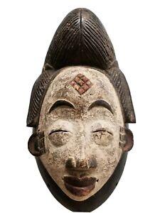 Festac Tribal Art-- Old Maiden Punu Mask -- Gabon-- Fes-2512
