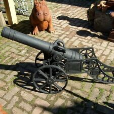 Cast Iron Black Classic Cannon Statue/Military/Garden Gunpowder Ornament