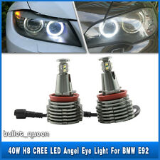 2x 40W H8 CREE LED Angel Eye Marker Light Canbus BMW E92 E82 E60 E63 F01 E70 E71