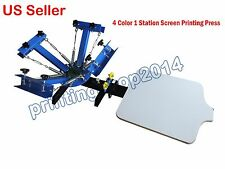 4 Color 1 Station Screen Printing Press DIY T-shirt Processing Machine
