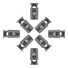 10 - Cord Barrel Locks With Head Black Plastic