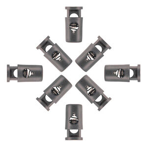 10 - Cord Barrel Locks With Head Black Plastic