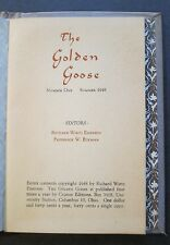 William Carlos Williams THE GOLDEN GOOSE NUMBER ONE SUMMER 1948 ~ Poetry