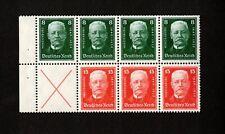 Germany President Hindenburg Scott #B19-B20 block 7 stamps F/VF, MNH, OG!!