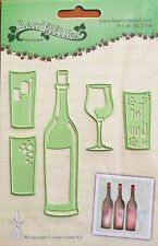 LeCrea' Multi Die Cutter - Wine Bottle and Glass , craft, card making 2304