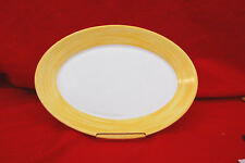 "1-Box of 24 / Arcoroc BRUSH YELLOW (Yellow&White) 11-3/4"" OVAL PLATTERS (#S8005)"