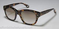 Betsey Johnson Double the Love Sunglasses/Eyewear, Espresso, Retail $250