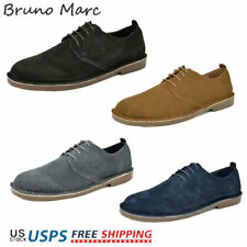 Bruno MARC Men's Casual Shoes Genuine Suede Leather Classic Lace Up Oxford Shoes