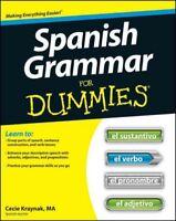 Spanish Grammar for Dummies, Paperback by Kraynak, Cecie, Brand New, Free shi...