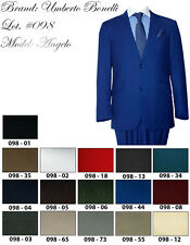 Mens Umberto Bonelli Saturated Color Dapper Style Classy Suit Royal Red Teal