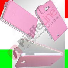 custodia in eco PELLE rosa flip case per SAMSUNG i9220 N7000 GALAXY NOTE