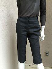 Nwot Ana Gram Woman Crop Pants Sz 4 Retail $385 Dark Gray Slim Fit