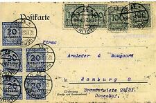Postkarte MiF Infla Erdt & Schmidt Berlin an Armleder & Haugaard Hamburg o 1923