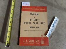 CASE Model 430 Utility Wheel Forklift Fork Lift Operator's Manual 9-772