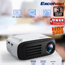 Portable Pocket Mini LED Projector 3D HD 1080P Multimedia Home Cinema HDMI YG200