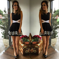 Womens Ladies summer clothing Sexy lace sleeveless dresses Short Mini Bodycon