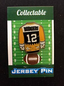 Green Bay Packers Aaron Rodgers jersey lapel pin-Classic Collectable-Go Pack Go