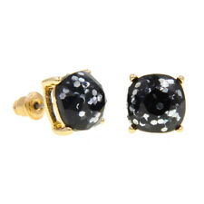 Iridescent Glitter Mini Small Square Stud Earrings New York Style Baubles