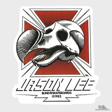 Blind Dodo Skull Jason Lee Skateboard Sticker 4.3in