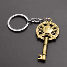 HOT One Piece Keychain Key Ring Pendant Anime White Beard Edward Newgate Gift
