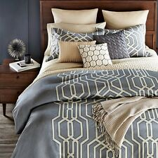 Oake Bedding Vertices 100% Pima Cotton Quilted Euro Pillow Sham Beige A340