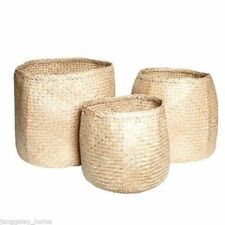 Handmade Seagrass Decorative Baskets