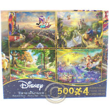 4 in1 500 Piece Puzzle Thomas Kinkade Disney Dreams Collection MultiPack Game