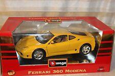 X 9*Burago Ferrari 360 Modena Gelb 3368*Neuwertig*Sammlerzustand*
