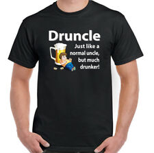 Druncle Mens Funny Drunk Uncle T-Shirt Fathers Day Birthday 30th 40th 50th Gift