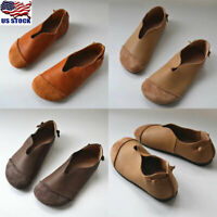 US Womens Slip On Flats Pumps Ladies Casual Soft Comfy Shoes Loafers Moccasins