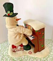 Hallmark JINGLE PALS Plush Piano Playing Snowman Animated Motion Lights Up Songs