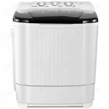 New Listing21Lbs Compact Portable Washing Machine Twin Tubs Spiner Dryer Laundry Washer Us