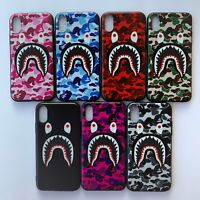 A Bathing Ape Bape Shark Camo Case For iPhone XS MAX XR X 8 7 Plus