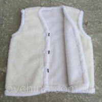 Sheepskin Vest Body warmer Men & Women two layer Height 78cm / Length 148cm