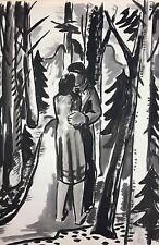 Mueller-Leutert Hellmuth Nr 3 Liebespaar im Wald